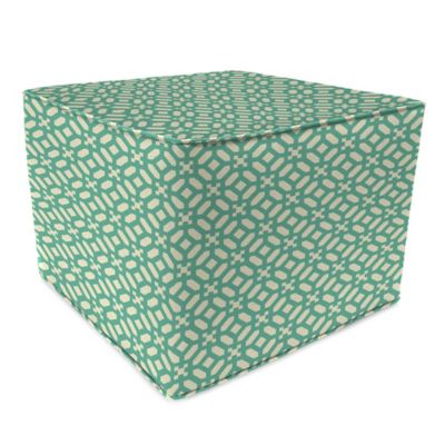 Outdoor 20-Inch Square Pouf in In the Frame Oasis