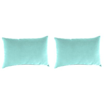 Outdoor 18-Inch x 12-Inch Rectangle Throw Pillows in Sunburst Pool (Set of 2)