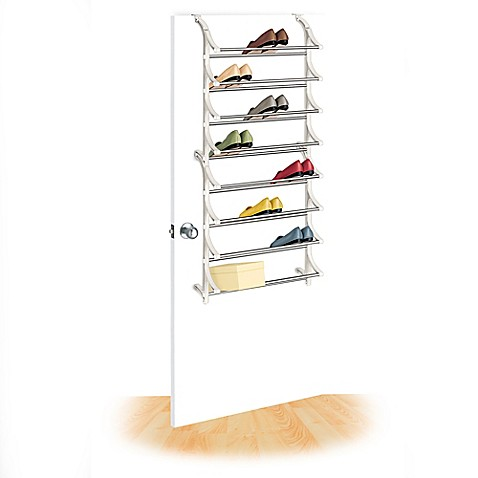 buy lynk over the door 24 pair shoe rack from bed bath beyond. Black Bedroom Furniture Sets. Home Design Ideas