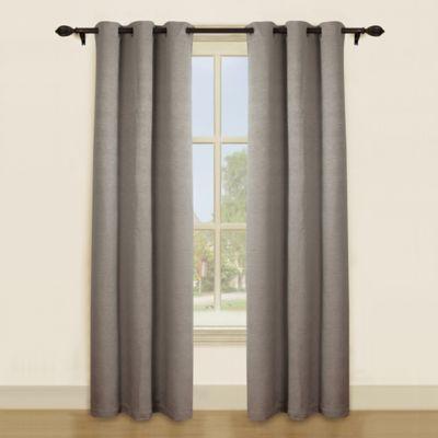 Waywood 84-Inch Grommet Top Window Curtain Panel Pair in Taupe