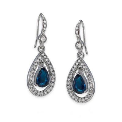Carolee New York Bonnie Blue Crystal Teardrop Pierced Earrings