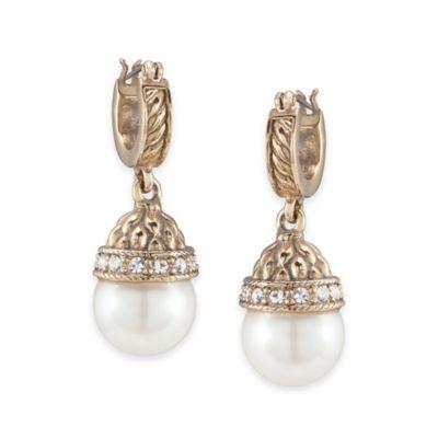 Carolee New York Paige Pearl Drop Pierced Earrings