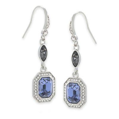 Carolee New York Lena Blue Crystal Drop Pierced Earrings