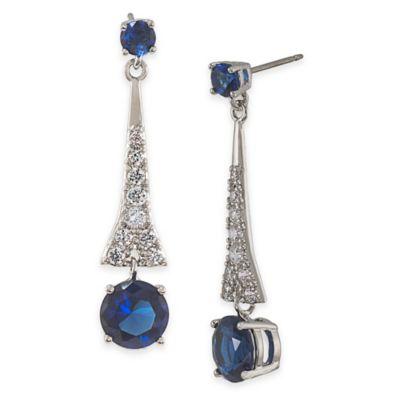 Carolee New York Carly Royal Blue Drop Pierced Earrings