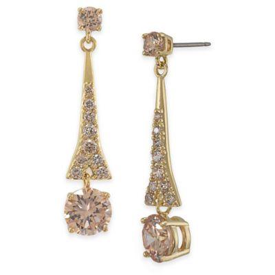 Carolee New York Becky Topaz Drop Pierced Earrings