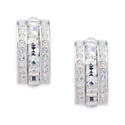 Carolee New York Cheryl Square Cut Crystal Clip-On Earrings