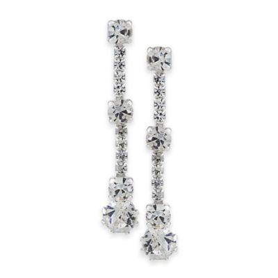 Carolee New York Joy Linear Crystal Drop Earrings