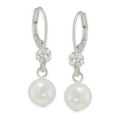 Carolee New York Mackenzie Crystal and Pearl Linear Drop Earrings