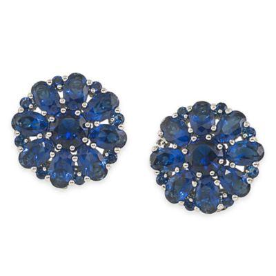 Carolee New York Upper East Side Blue Button Clip-On Earrings
