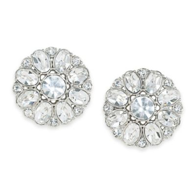 Carolee New York Broadway Lights Button Clip-On Earrings