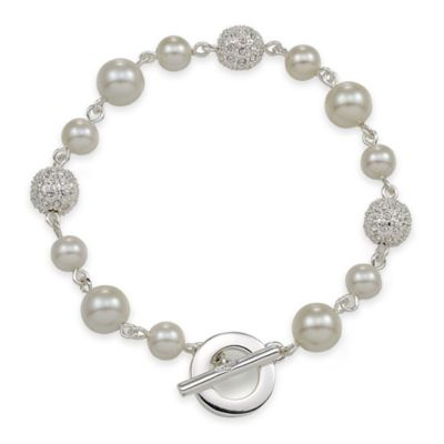Carolee New York Maya Crystal Fireball and White Pearl Bracelet