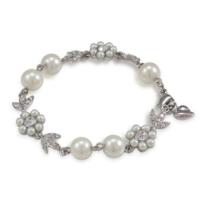 Carolee New York Leanne Crystal and Pearl Bracelet