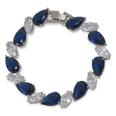Carolee New York Alyssa Sapphire Crystal Linked Stone Bracelet