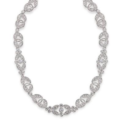 Carolee New York Amber Crystal Choker Necklace