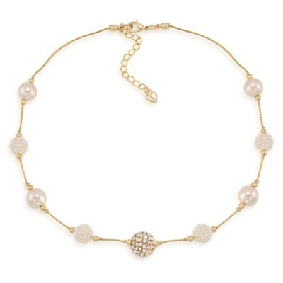 Carolee New York Leslie White Pearl Illusion Necklace