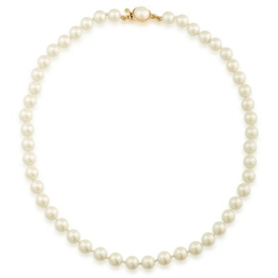 Carolee New York Maura 8mm White Pearl Necklace with Goldtone Clasp
