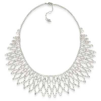 Carolee New York Crystal Stems Dramatic Frontal Necklace