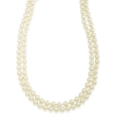 Carolee New York Jacqueline 72 Inch 10mm White Pearl Rope Necklace