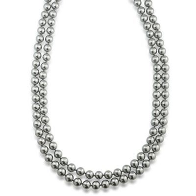 Carolee New York Pam 72 Inch 10mm Charcoal Pearl Rope Necklace