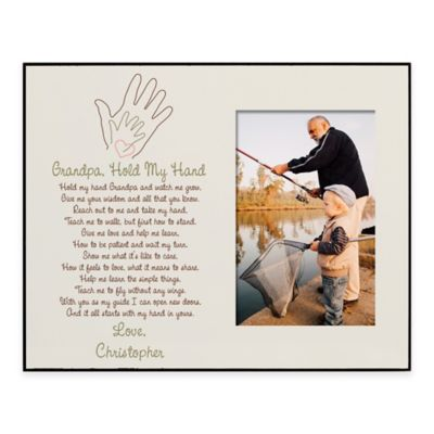 """""""Grandpa, Hold My Hand"""" 4-Inch x 6-Inch Picture Frame"""