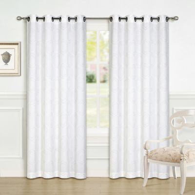 Xenith 84-Inch Grommet Top Window Curtain Panel Pair in Taupe