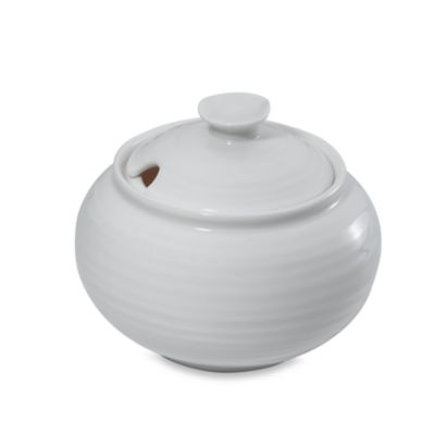 Sophie Conran for Portmeirion® White 11-Ounce Covered Sugar Bowl