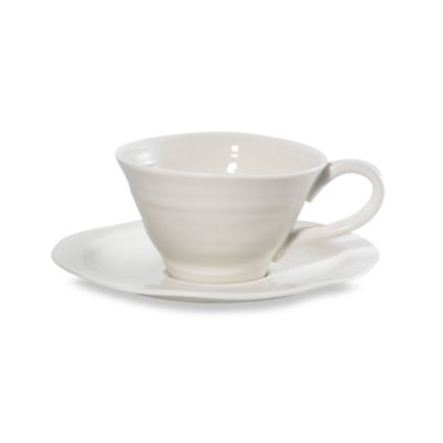 Sophie Conran for Portmeirion® White 8-Ounce Teacup and Saucer