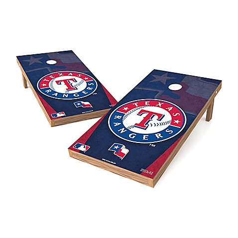 Buy Mlb Texas Rangers Regulation Cornhole Set From Bed