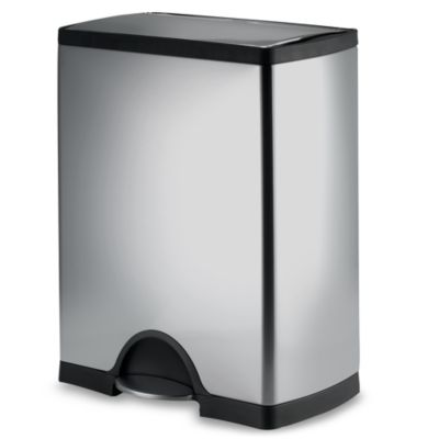 simplehuman® Rectangular 50-Liter Brushed Stainless Steel Step-On Trash Can