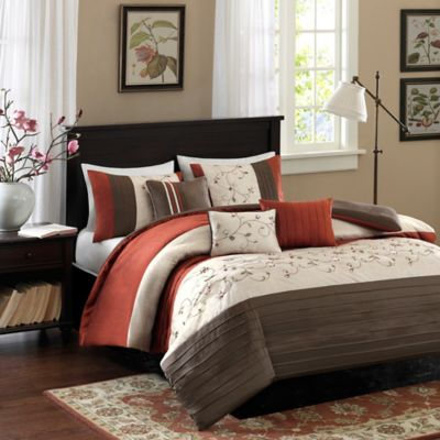 Madison Park Serene Full/Queen Duvet Cover Set in Spice