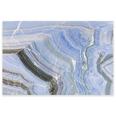 Marmont Hill Blue Quartz Veins 60-Inch x 40-Inch Canvas Wall Art