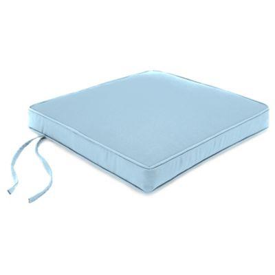 18-Inch Boxed Edge Seat Cushion in Sunbrella® Canvas Air Blue