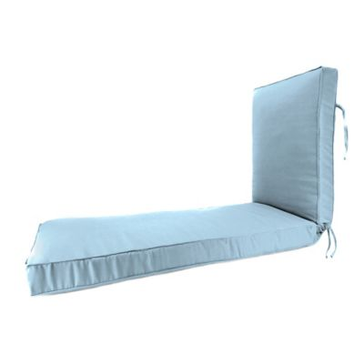 80-Inch x 23-Inch Chaise Lounge Cushion in Sunbrella® Canvas Air Blue