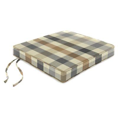 18-Inch Boxed Edge Seat Cushion in Sunbrella® Connect Dune