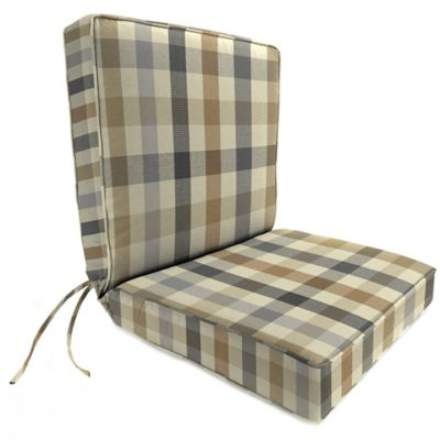 44-Inch x 22-Inch Dining Chair Cushion in Sunbrella® Connect Dune
