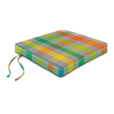 18-Inch Boxed Edge Seat Cushion in Sunbrella® Connect Fusion
