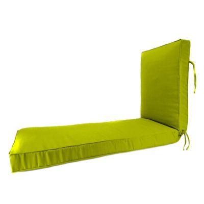 80-Inch x 23-Inch Chaise Lounge Cushion in Sunbrella® Echo Limelite