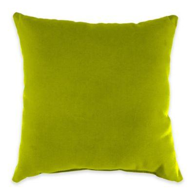 Outdoor Toss Pillow in Sunbrella® Echo Limelite