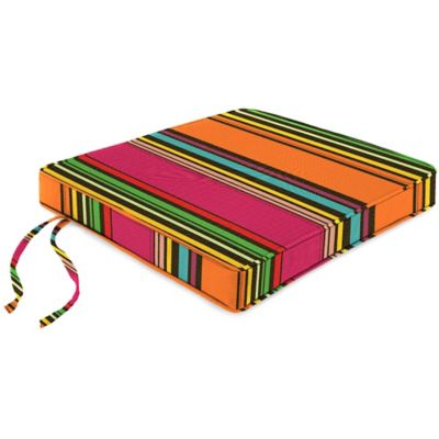 18-Inch Boxed Edge Seat Cushion in Sunbrella® Icon Pop