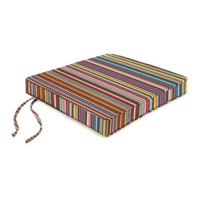 18-Inch Boxed Edge Seat Cushion in Sunbrella® Mode Seaside