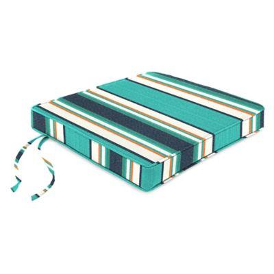 18-Inch Boxed Edge Seat Cushion in Sunbrella® Token Surfside