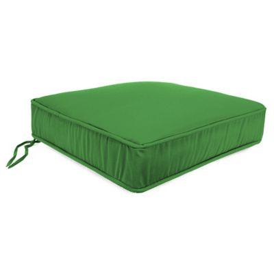 20-Inch Boxed Edge Square Chair Cushion in Sunbrella® Volt Emerald