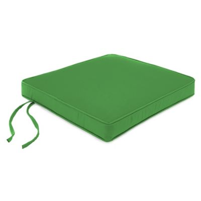 18-Inch Boxed Edge Square Chair Cushion in Sunbrella® Volt Emerald