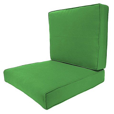 Buy 24 Inch X 24 Inch 2 Piece Deep Seat Chair Cushion In