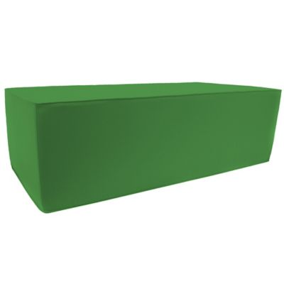 Outdoor Double Pouf Ottoman in Sunbrella® Volt Emerald