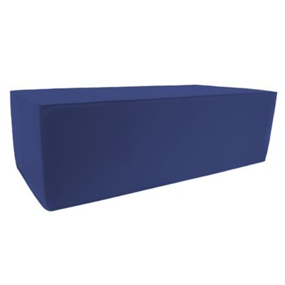 Outdoor Double Pouf Ottoman in Sunbrella® Volt Galaxy