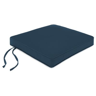 18-Inch Square Boxed Edge Seat Cushion in Sunbrella® Spectrum Indigo