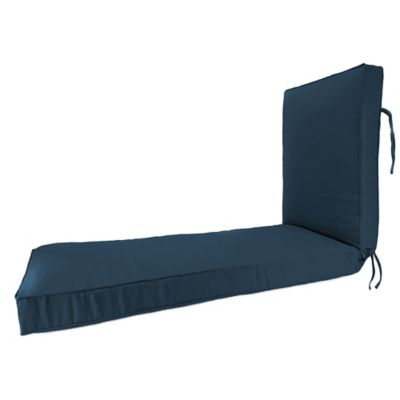 Buy blue chaise lounge cushions from bed bath beyond for Blue chaise cushions