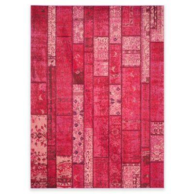 Safavieh Monaco Planks 8-Foot x 11-Foot Area Rug in Pink Multi
