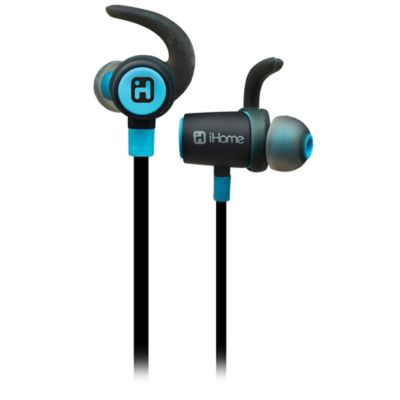 iHome™ Bluetooth™ 4.0 Wireless Water-Resistant Earphones in Blue